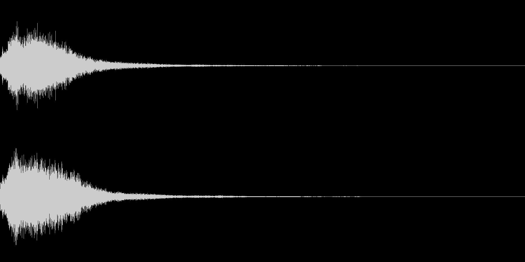 シャララララーン インドのシタールの音の未再生の波形