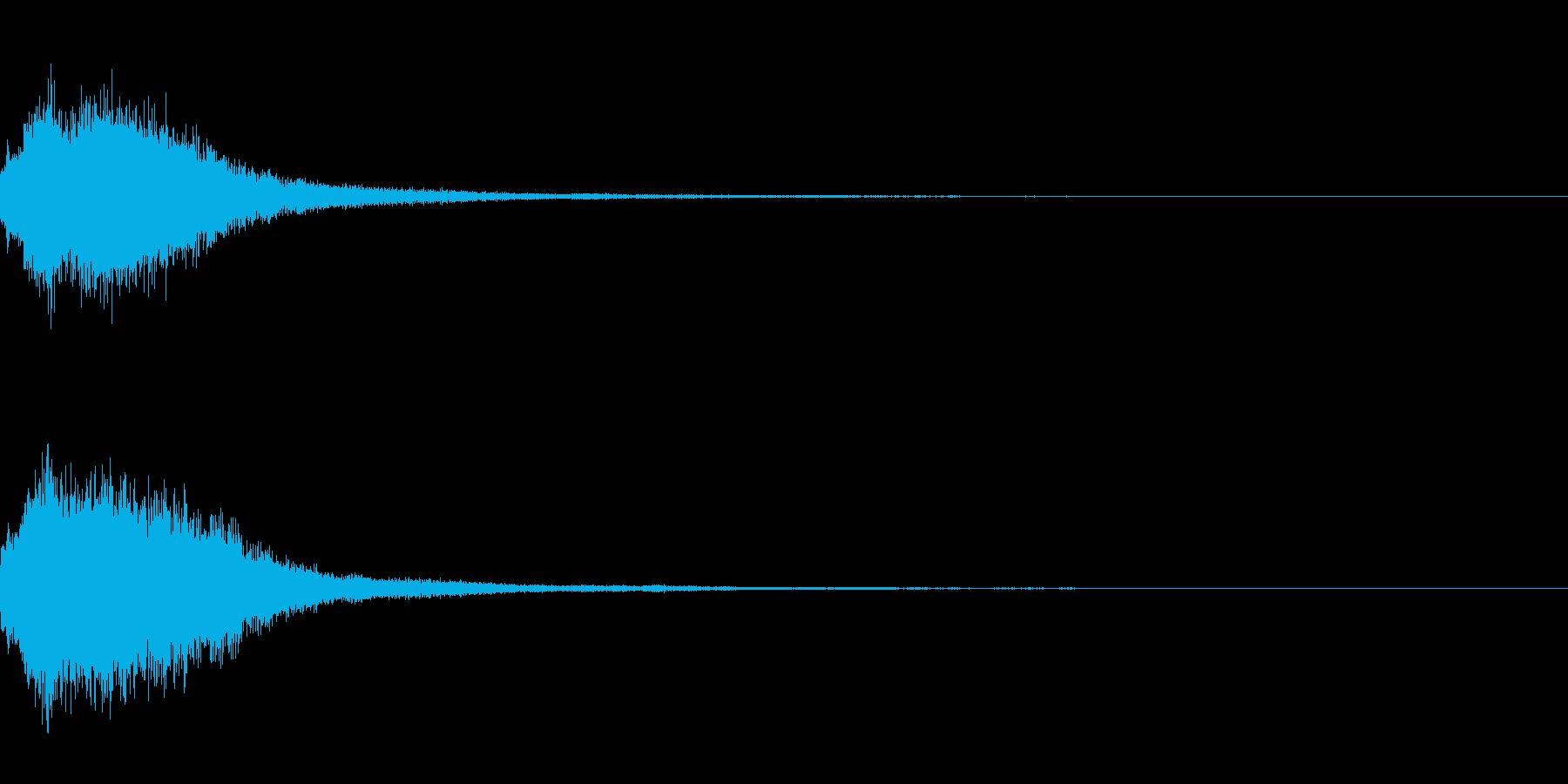 シャララララーン インドのシタールの音の再生済みの波形