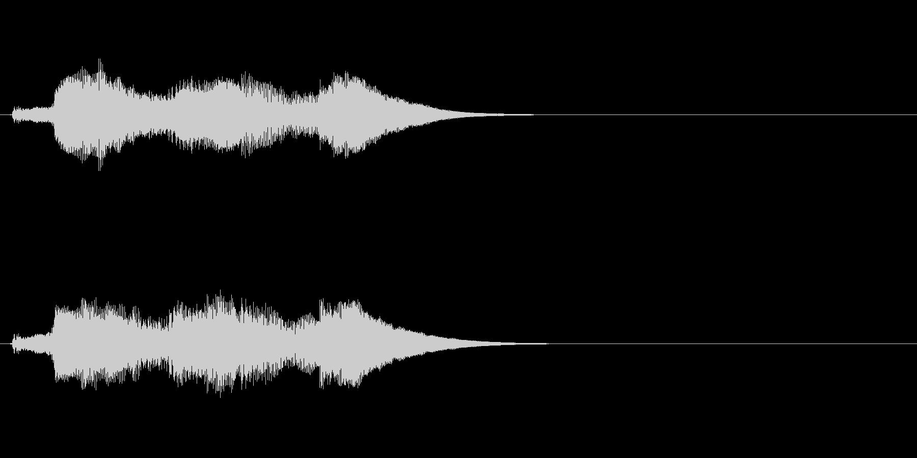 アイテム等の取得時のSEの未再生の波形