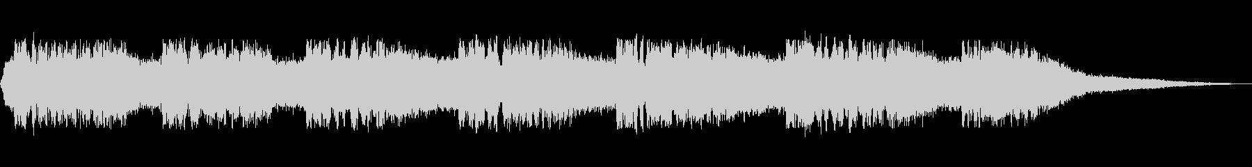 ミンミンゼミの鳴き声の未再生の波形
