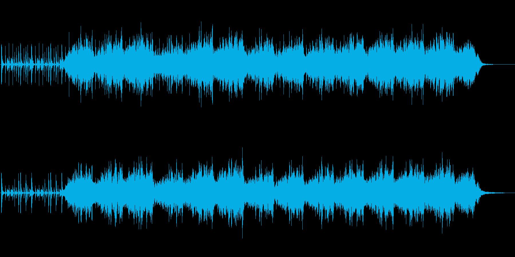 幻想的なシンセサウンドの再生済みの波形