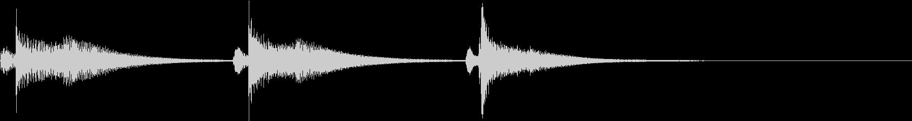 Kawaii メルヘンな受信・通知音 2の未再生の波形