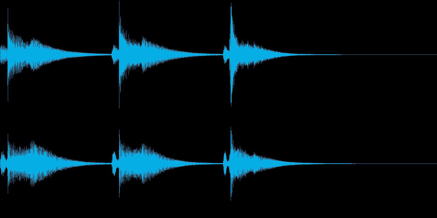 Kawaii メルヘンな受信・通知音 2の再生済みの波形