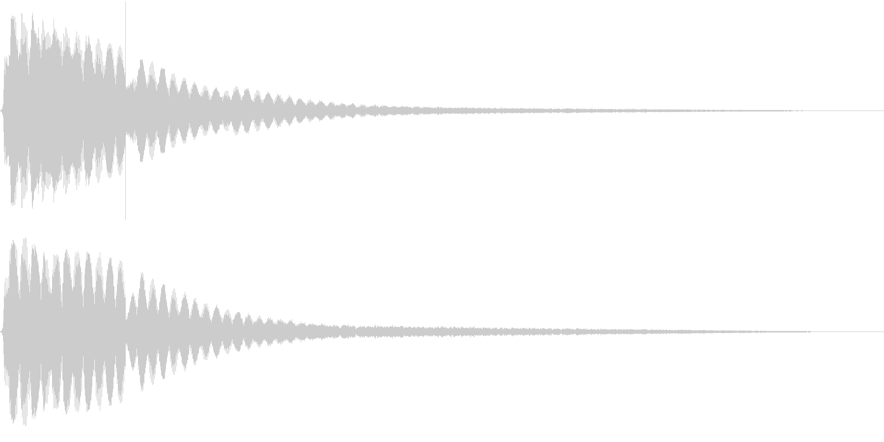 映画 ゲームの効果音 2の未再生の波形