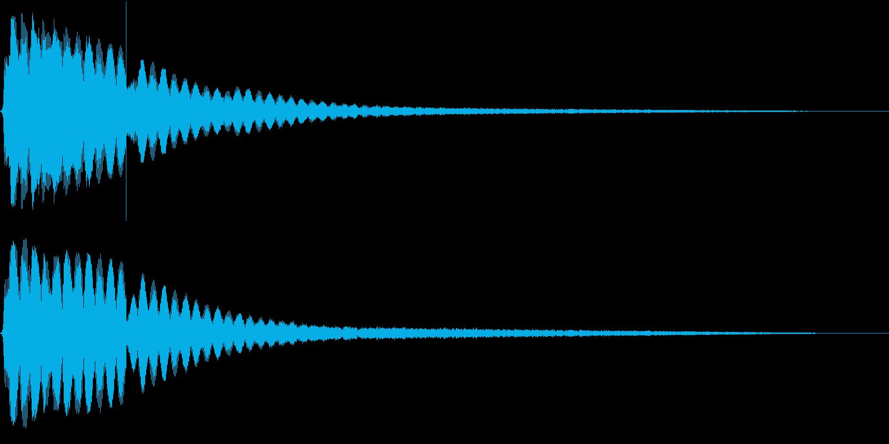 映画 ゲームの効果音 2の再生済みの波形