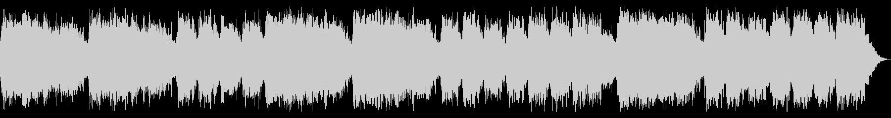 ミステリアスでダークな淡々としたBGMの未再生の波形