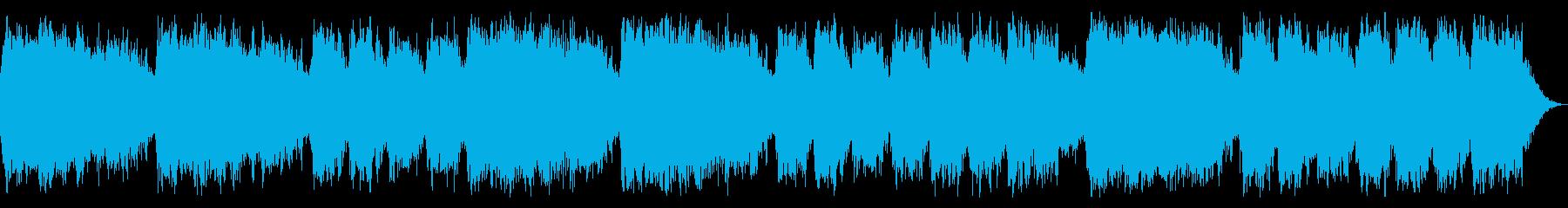 ミステリアスでダークな淡々としたBGMの再生済みの波形