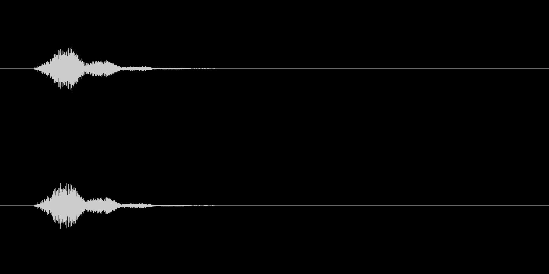 素早い動作SEの未再生の波形