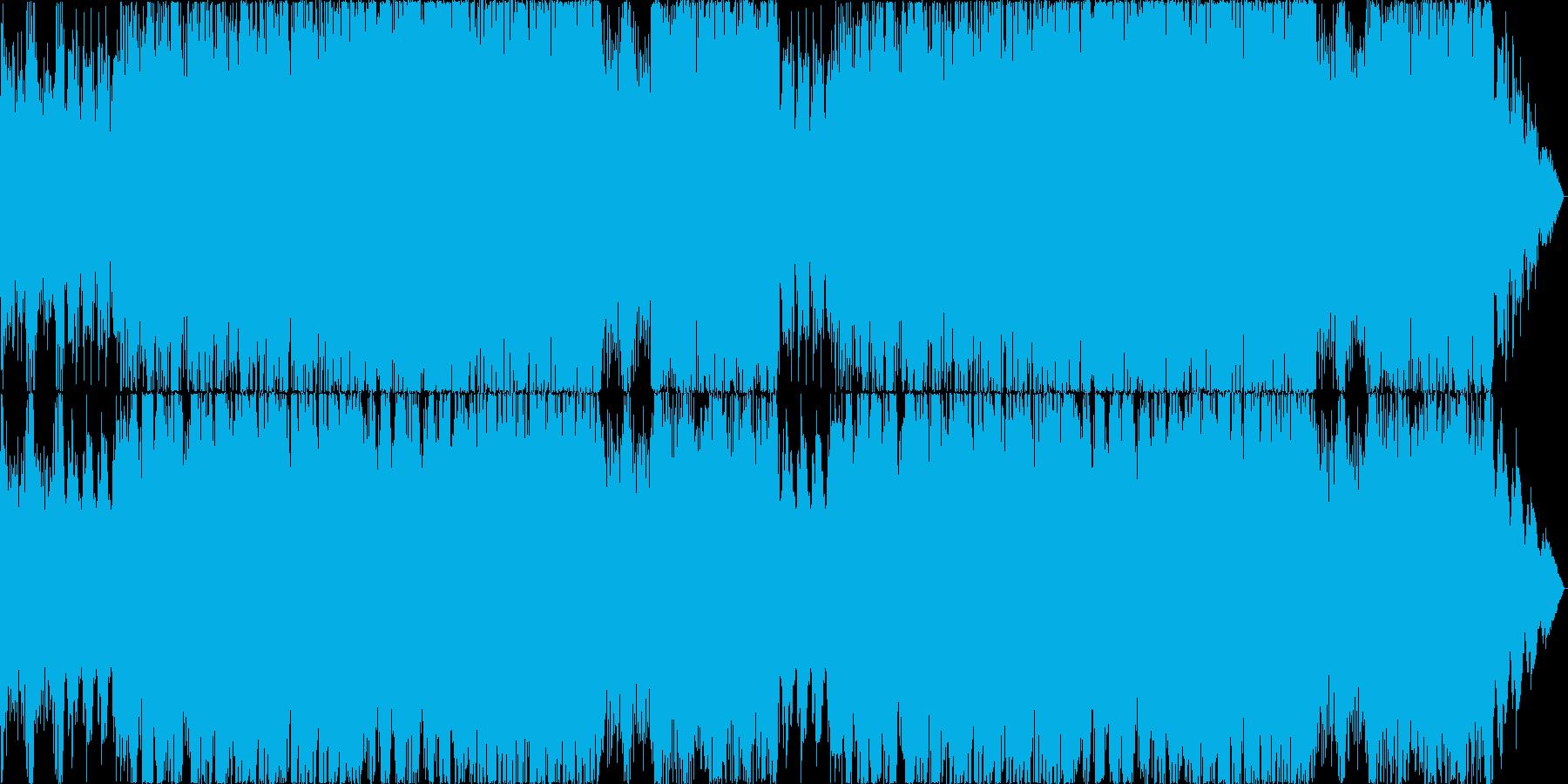 かっこよくてスピード感のあるオーケストラの再生済みの波形