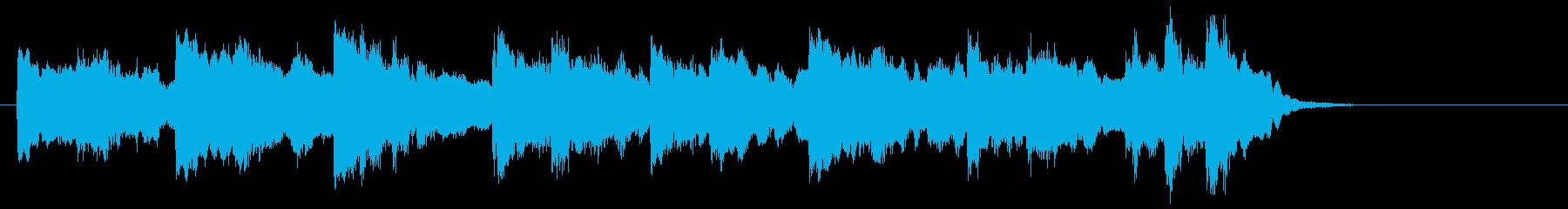 フルートとストリングスのジングルの再生済みの波形