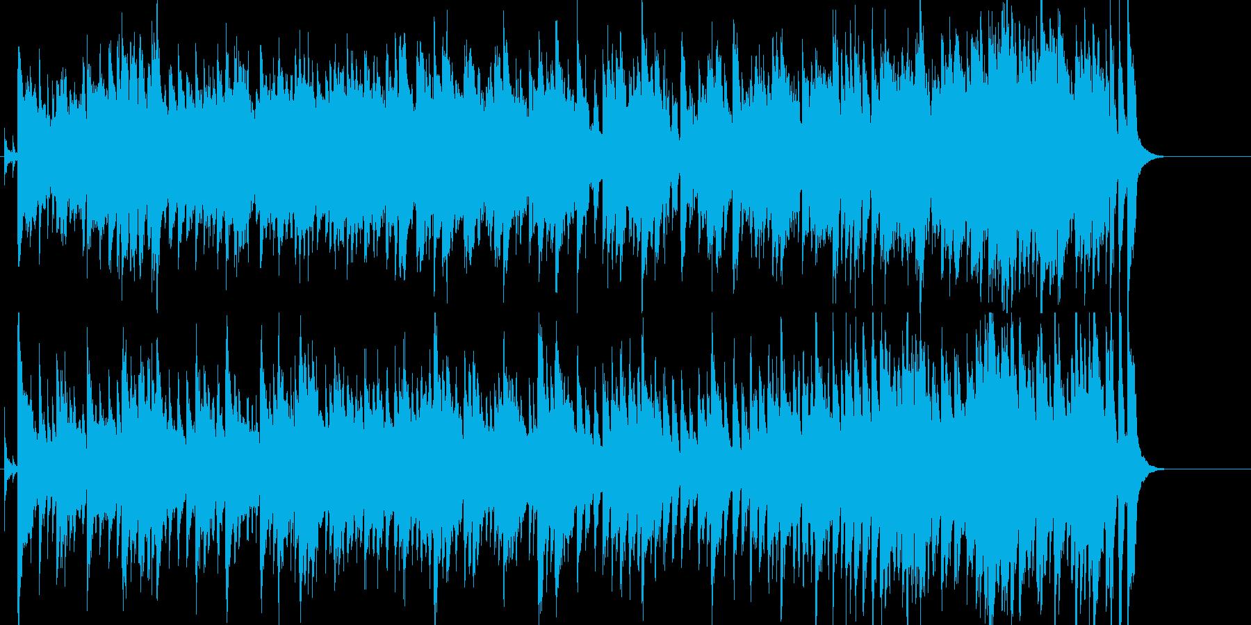 楽しい日常をイメージしたポップスの再生済みの波形