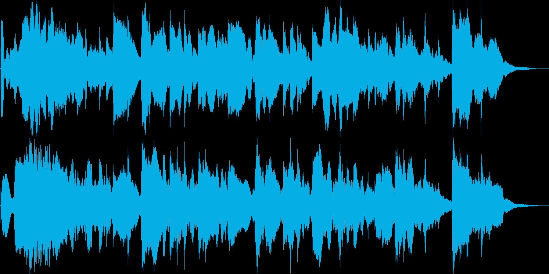夜の水辺をイメージした幻想的な楽曲の再生済みの波形