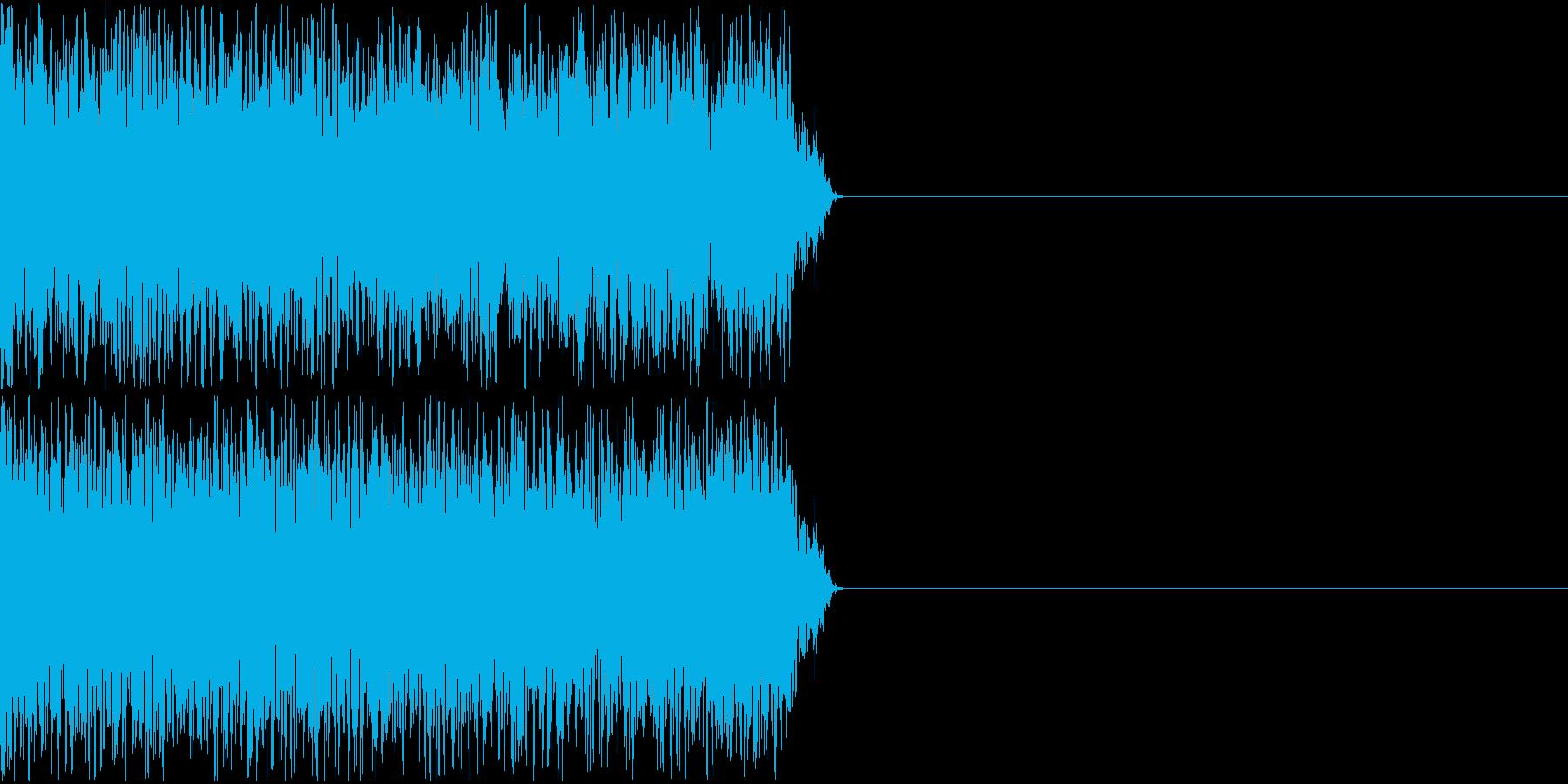 ピャー(レーザーを照射しているような)の再生済みの波形