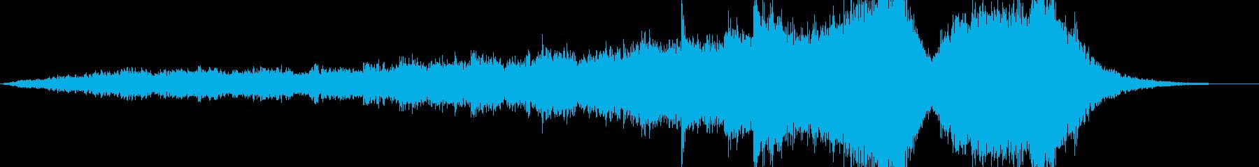 荘厳な雰囲気のトレーラー用BGMの再生済みの波形