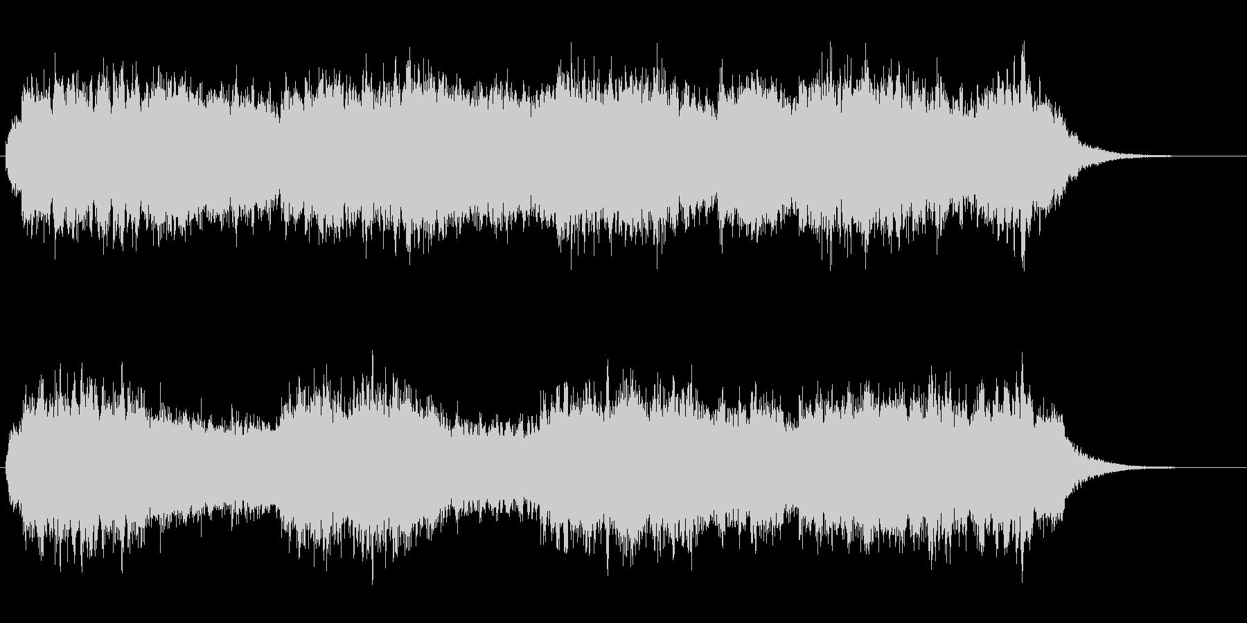 アンビエント風のヒーリングBGMの未再生の波形