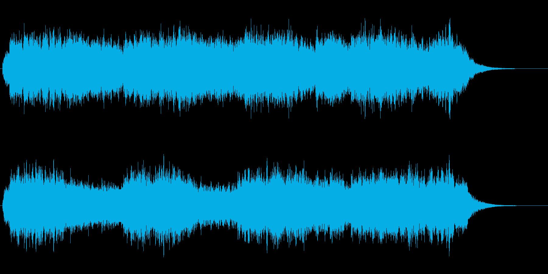 アンビエント風のヒーリングBGMの再生済みの波形