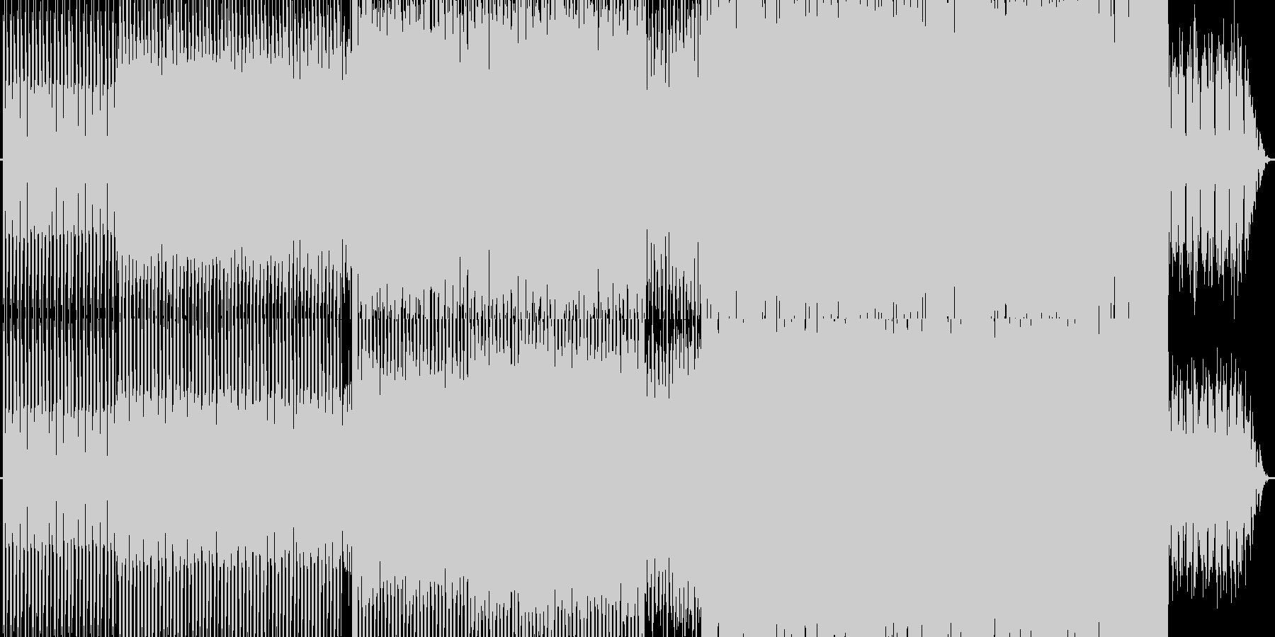単調・テクノの未再生の波形