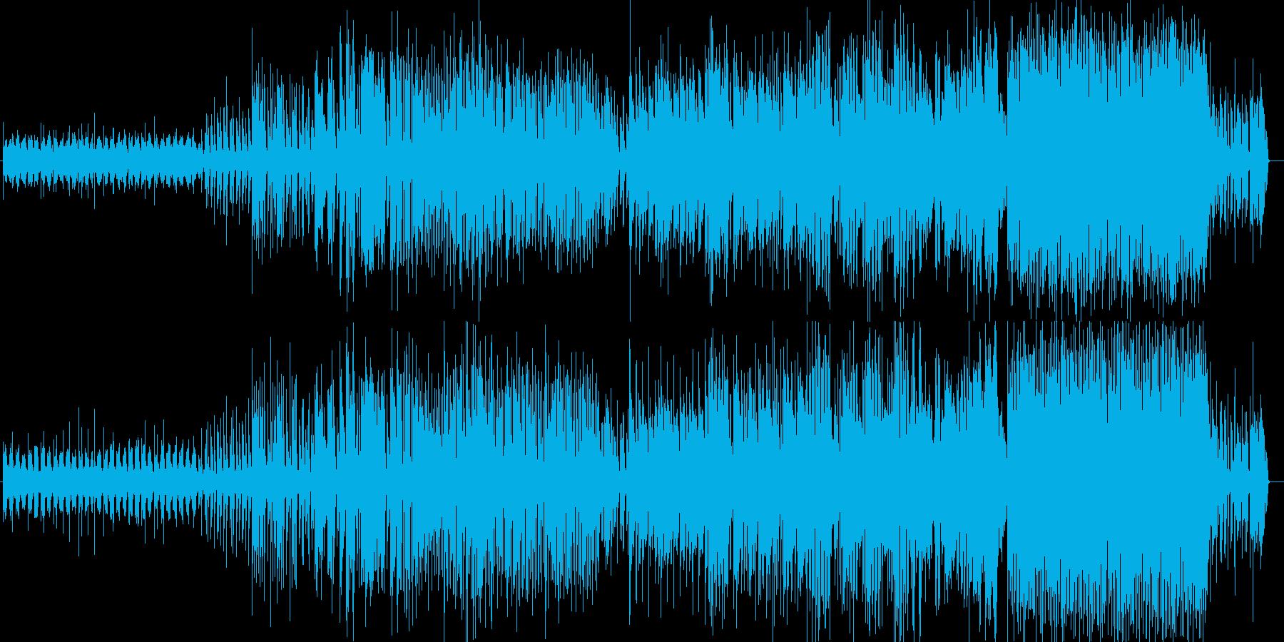 ウィルス達のパーティをイメージしたBGMの再生済みの波形