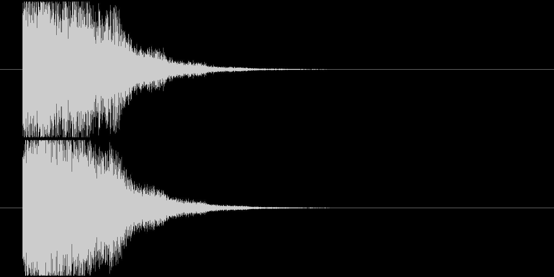 魔法効果SEの未再生の波形