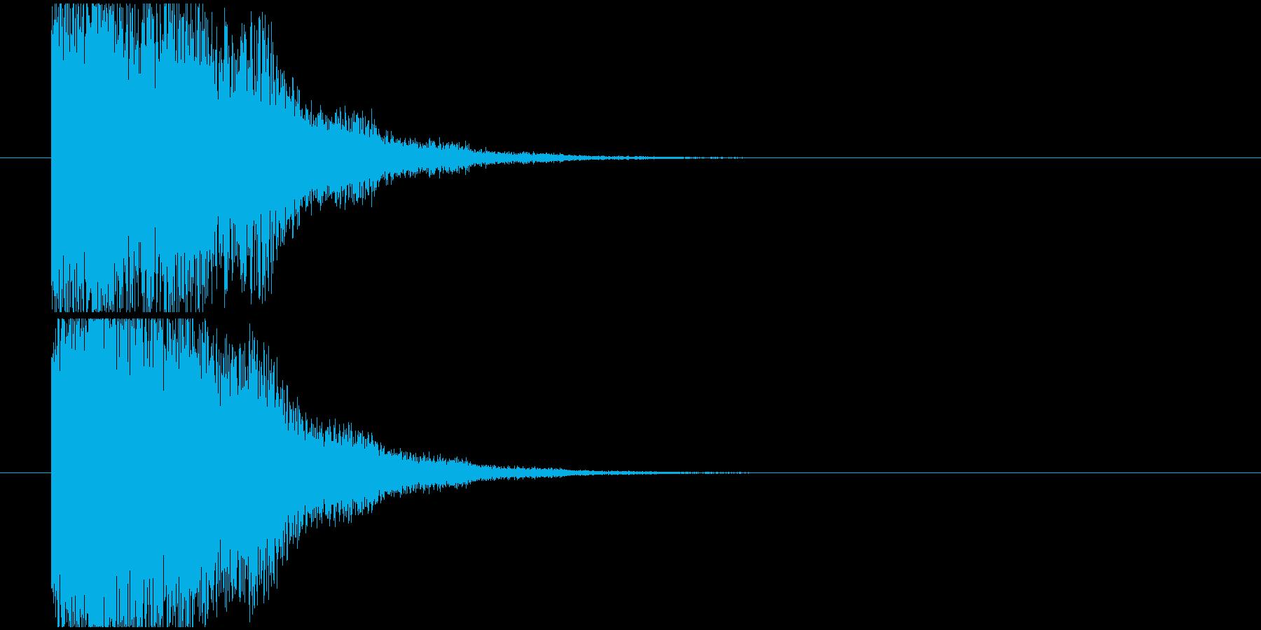 魔法効果SEの再生済みの波形