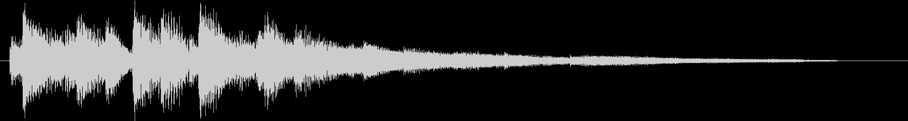 生演奏:マイナー調ラグジュアリーなピアノの未再生の波形