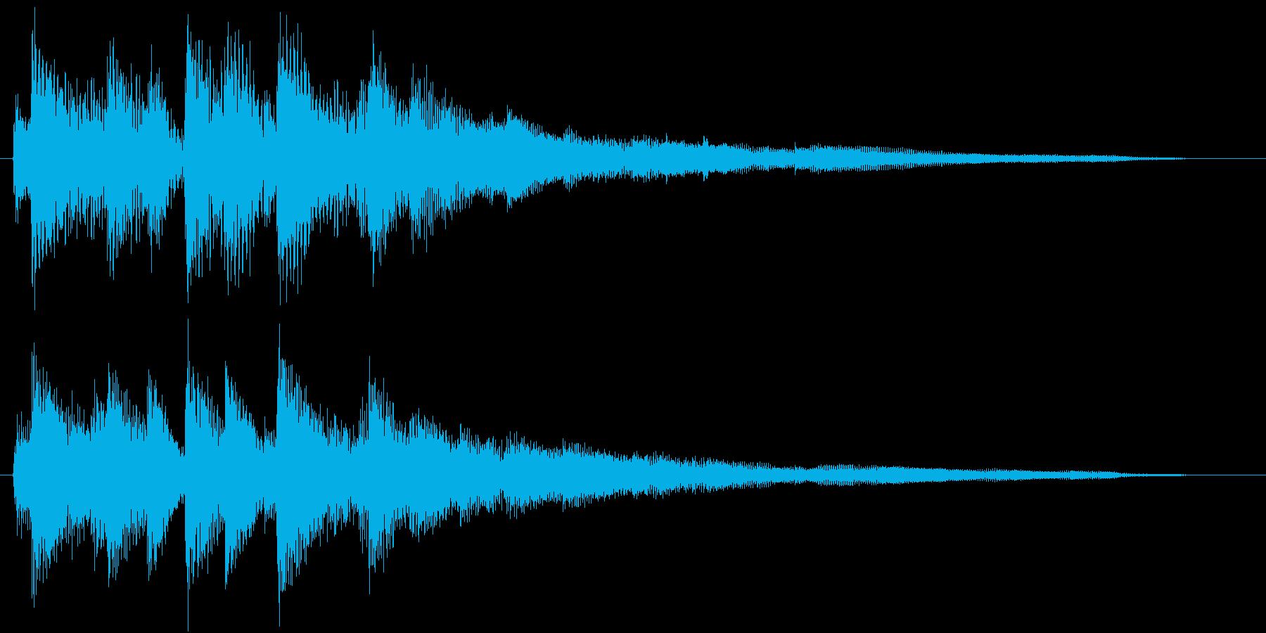 生演奏:マイナー調ラグジュアリーなピアノの再生済みの波形