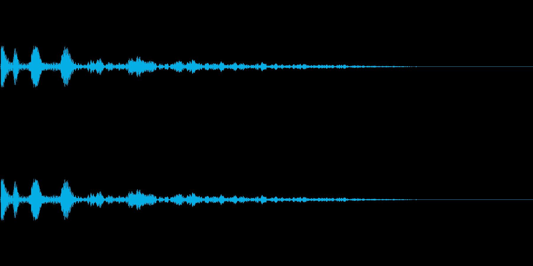 次のステップに進むクリック音3の再生済みの波形