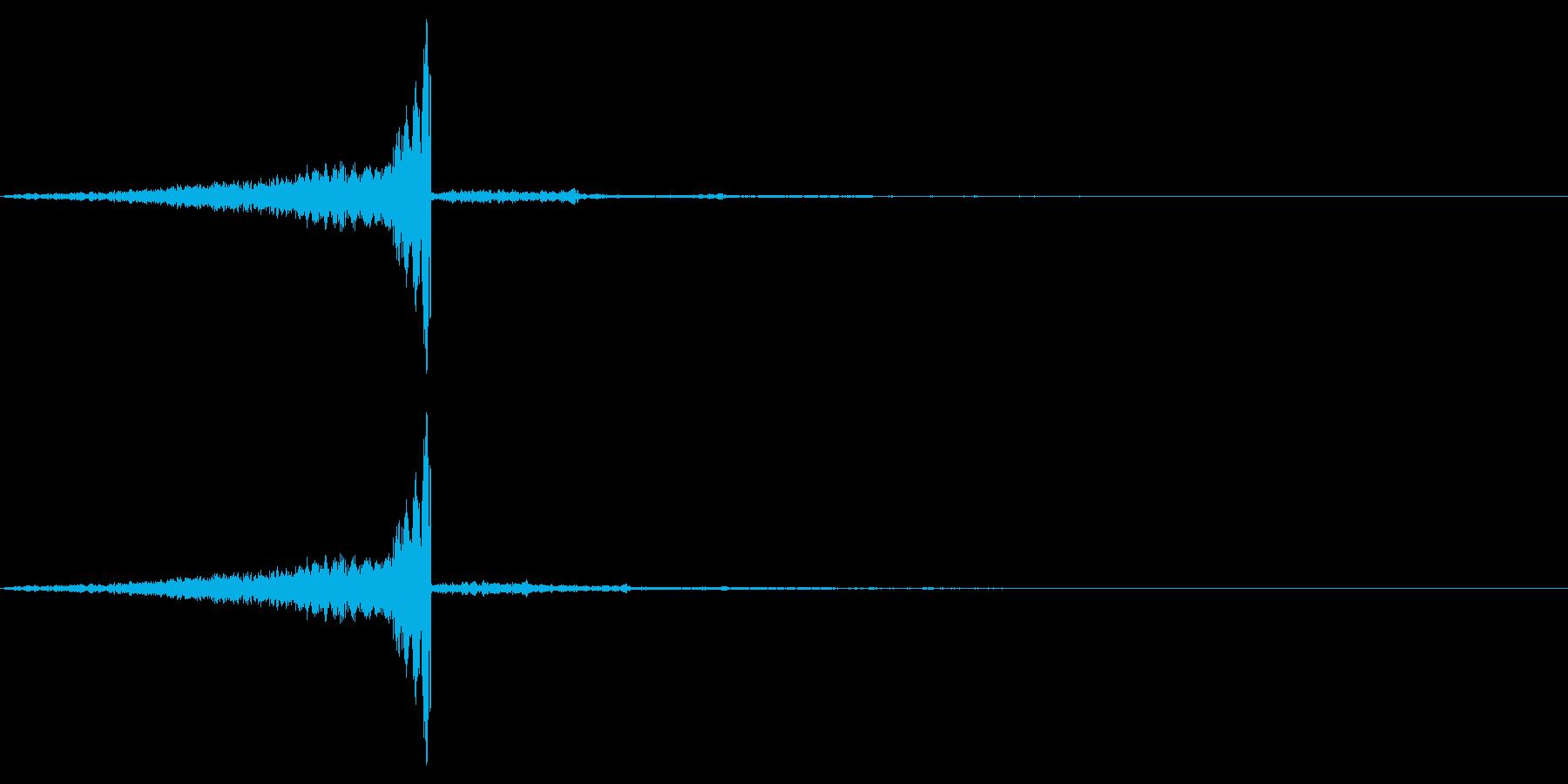 ゲームの効果音7 飛んでくる ヒュンの再生済みの波形