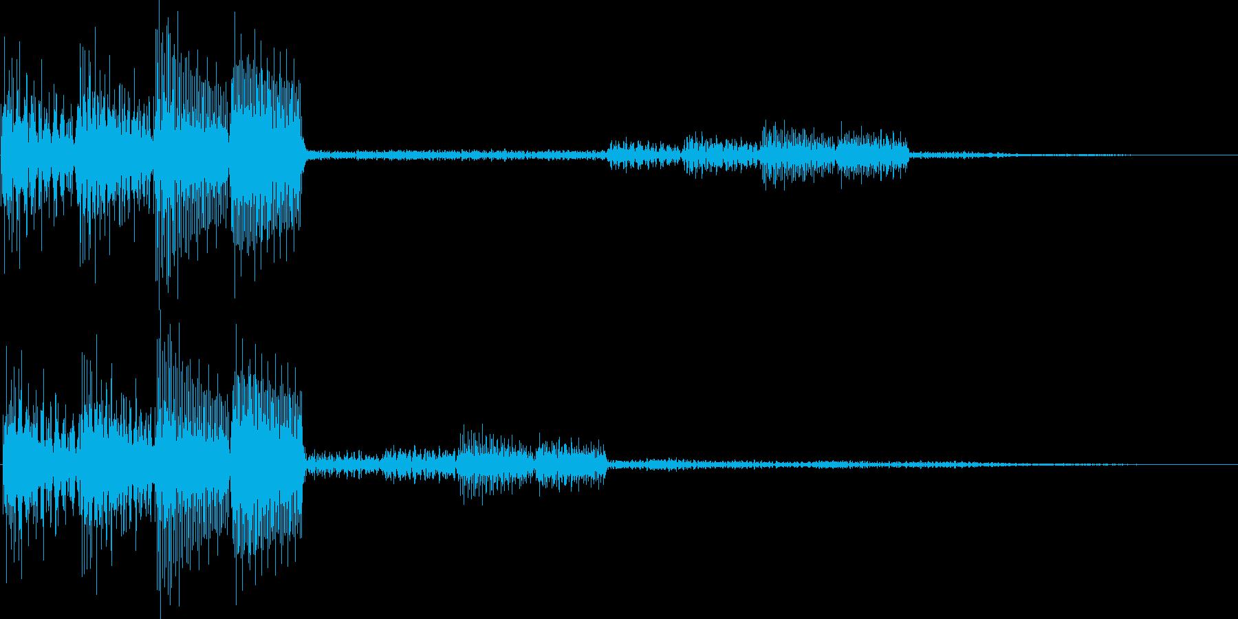 テロロロン(ミス、キャンセル、アイテム)の再生済みの波形