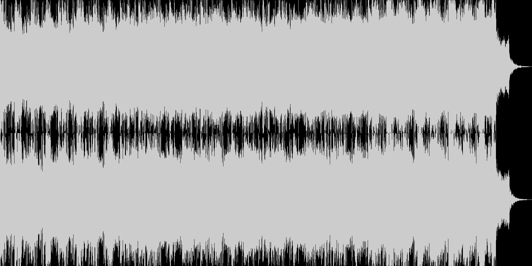 崩壊のイメージと壮大なギターソロの未再生の波形