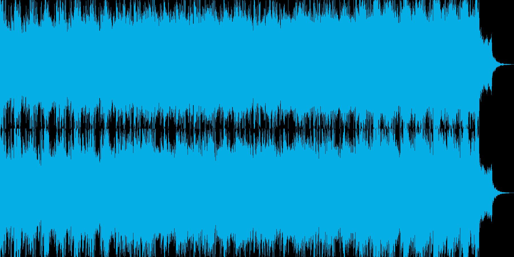 崩壊のイメージと壮大なギターソロの再生済みの波形