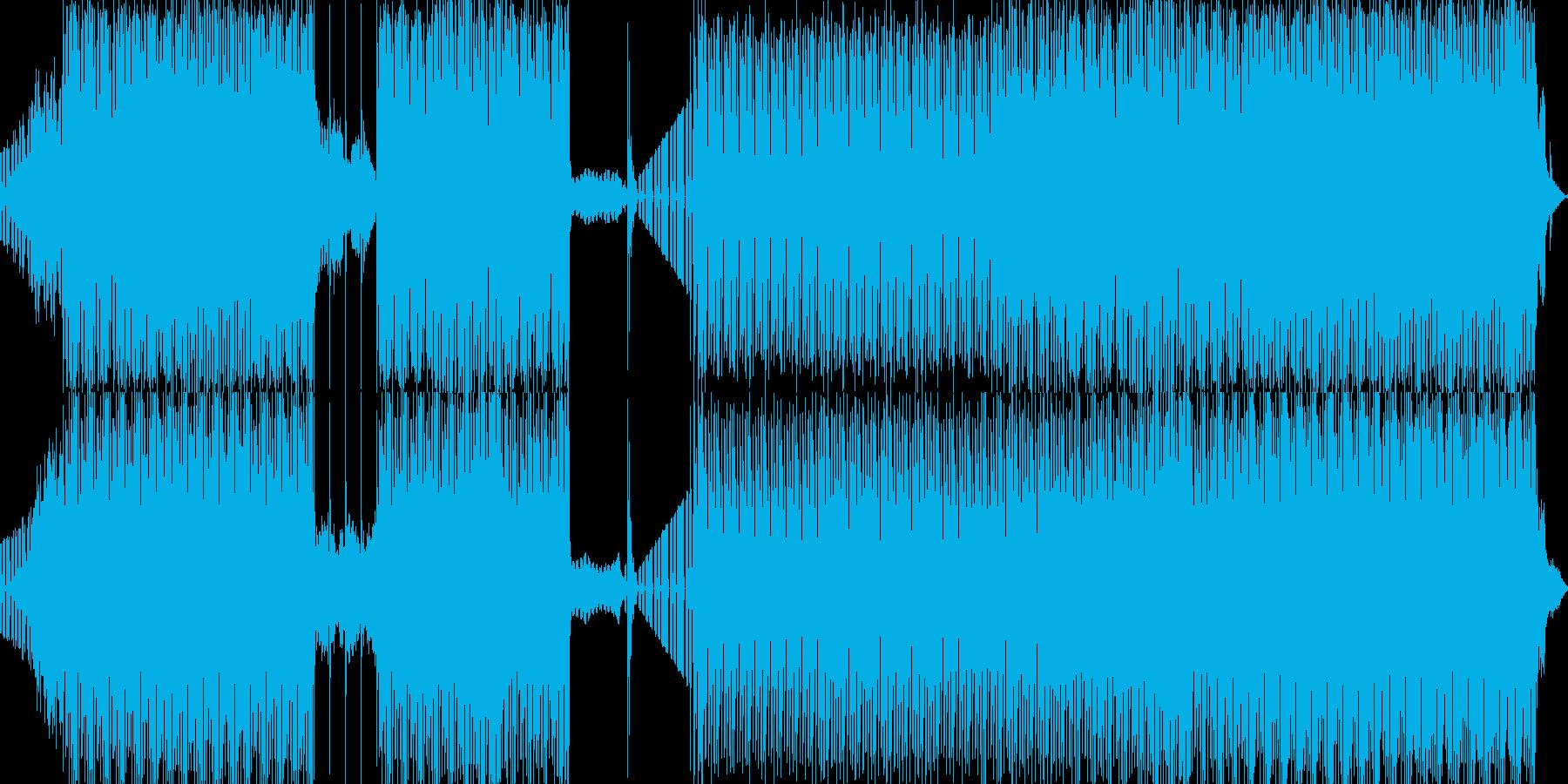 愉快で軽快なポップロックの再生済みの波形