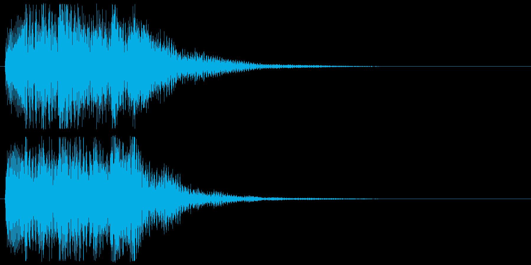 ピアノ ミステリアス上昇音 不安 不穏の再生済みの波形