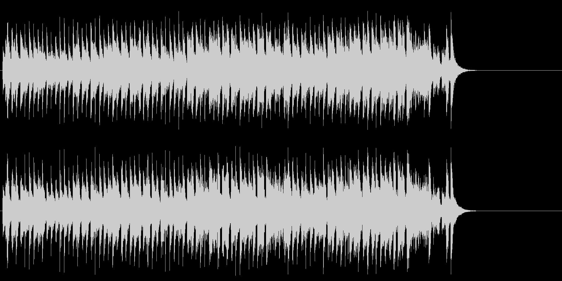 おどけた軽快なポップ(サビ~エンド)の未再生の波形