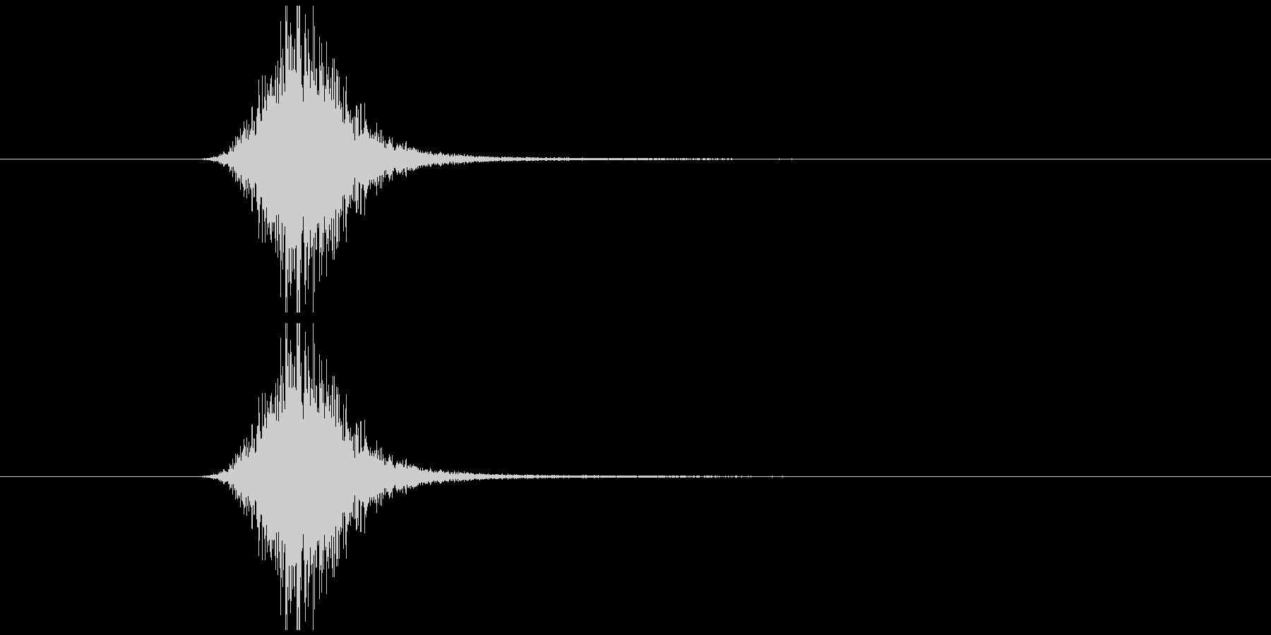 素振り2、スイングする音の未再生の波形