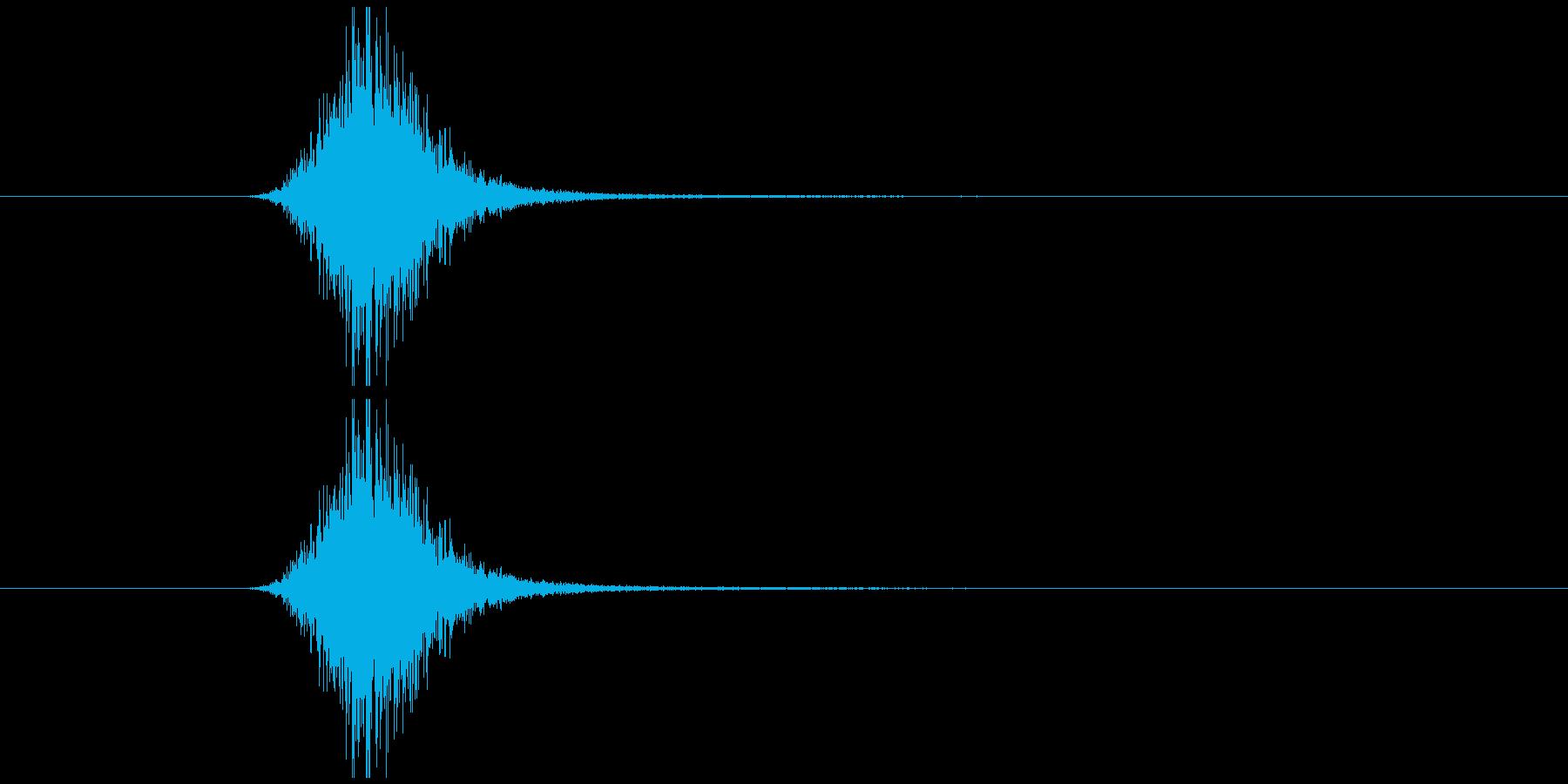 素振り2、スイングする音の再生済みの波形