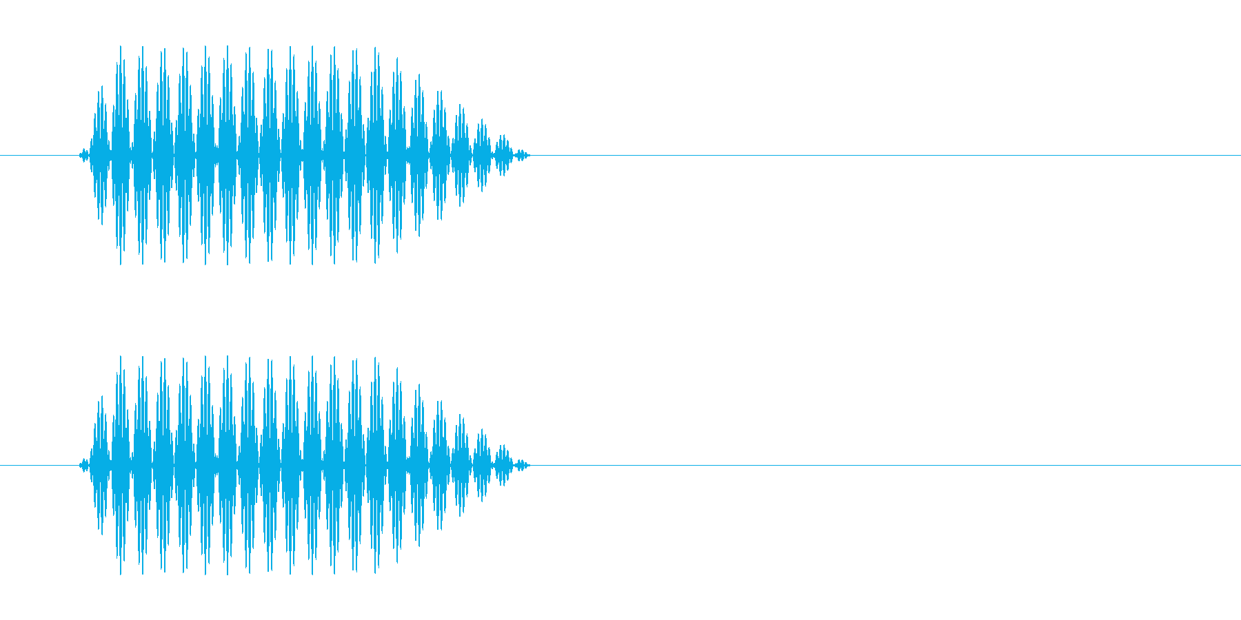 ピッ(電子的なボタン、決定音)の再生済みの波形