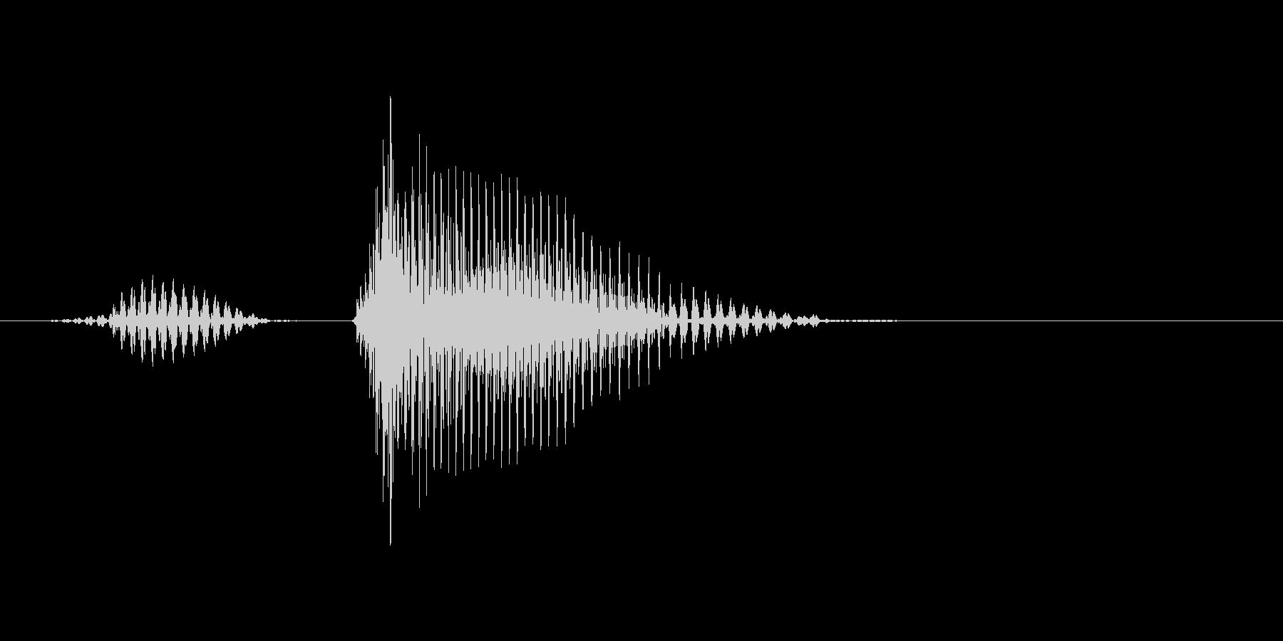 リターンの未再生の波形