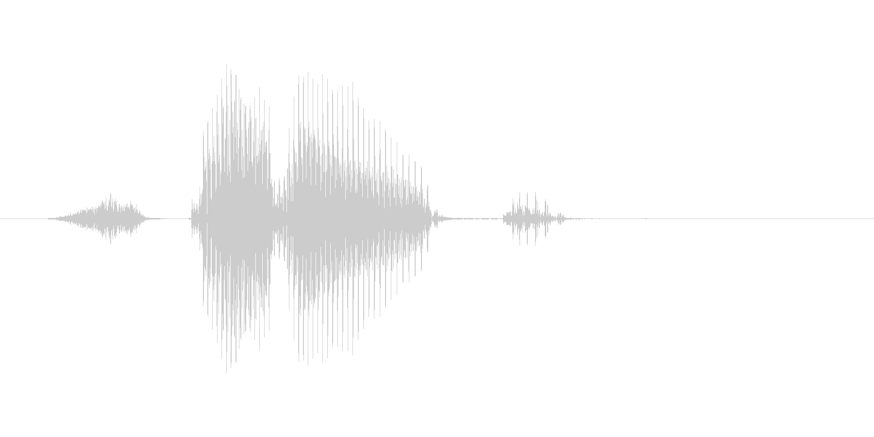 ストレートの未再生の波形
