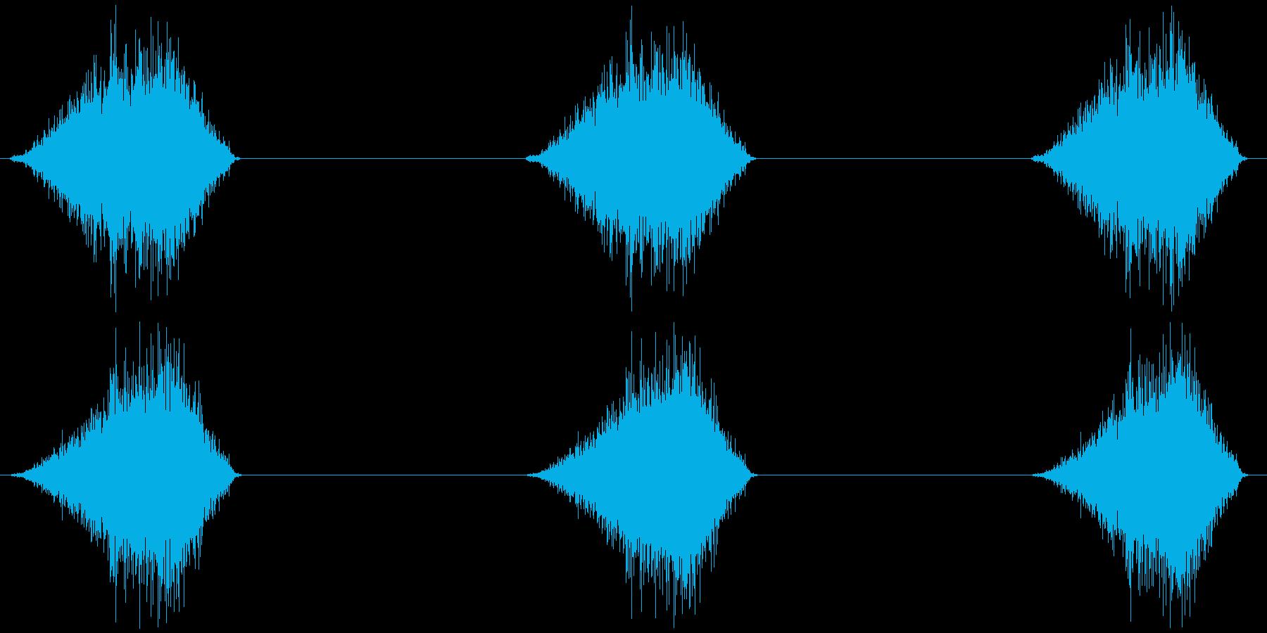 ほうき 掃く シャッ シャッ シャッの再生済みの波形