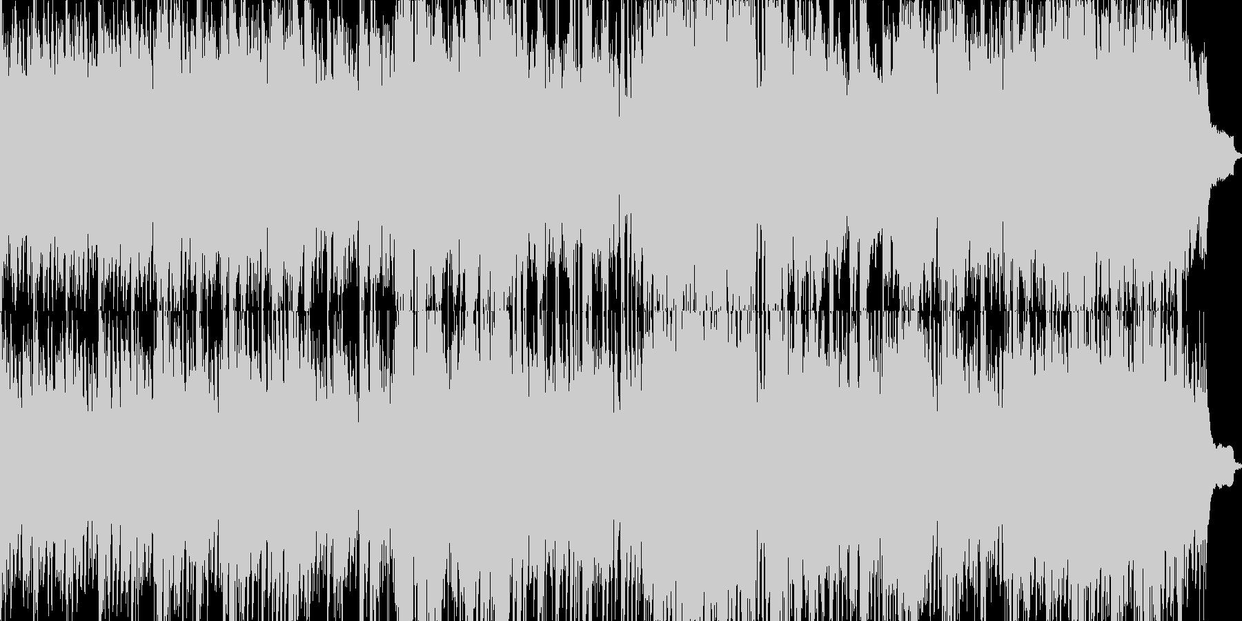 自然の映像にも映えるヒーリングBGMの未再生の波形