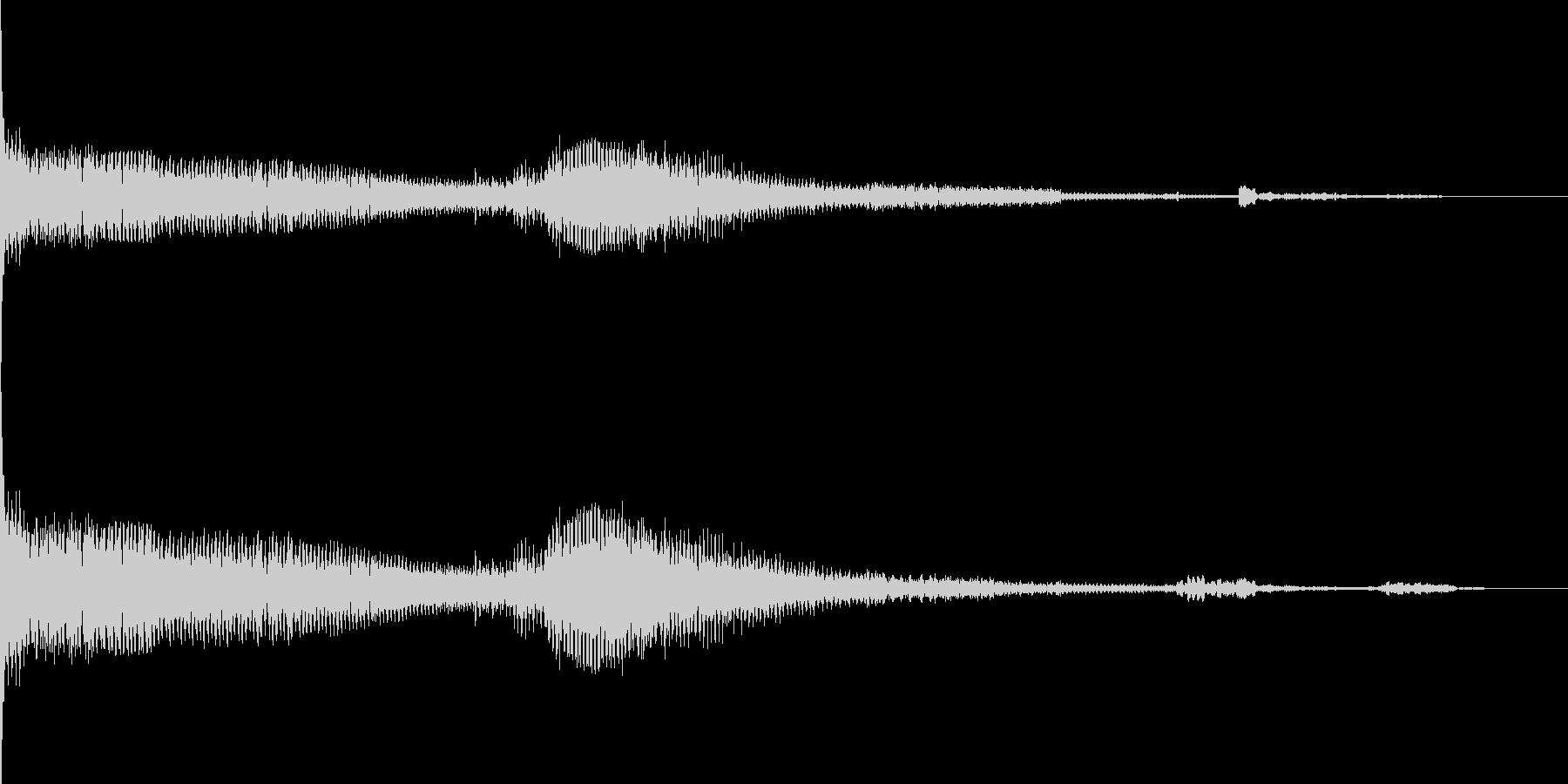 ボーン ボボボボーン(シンセ音)の未再生の波形