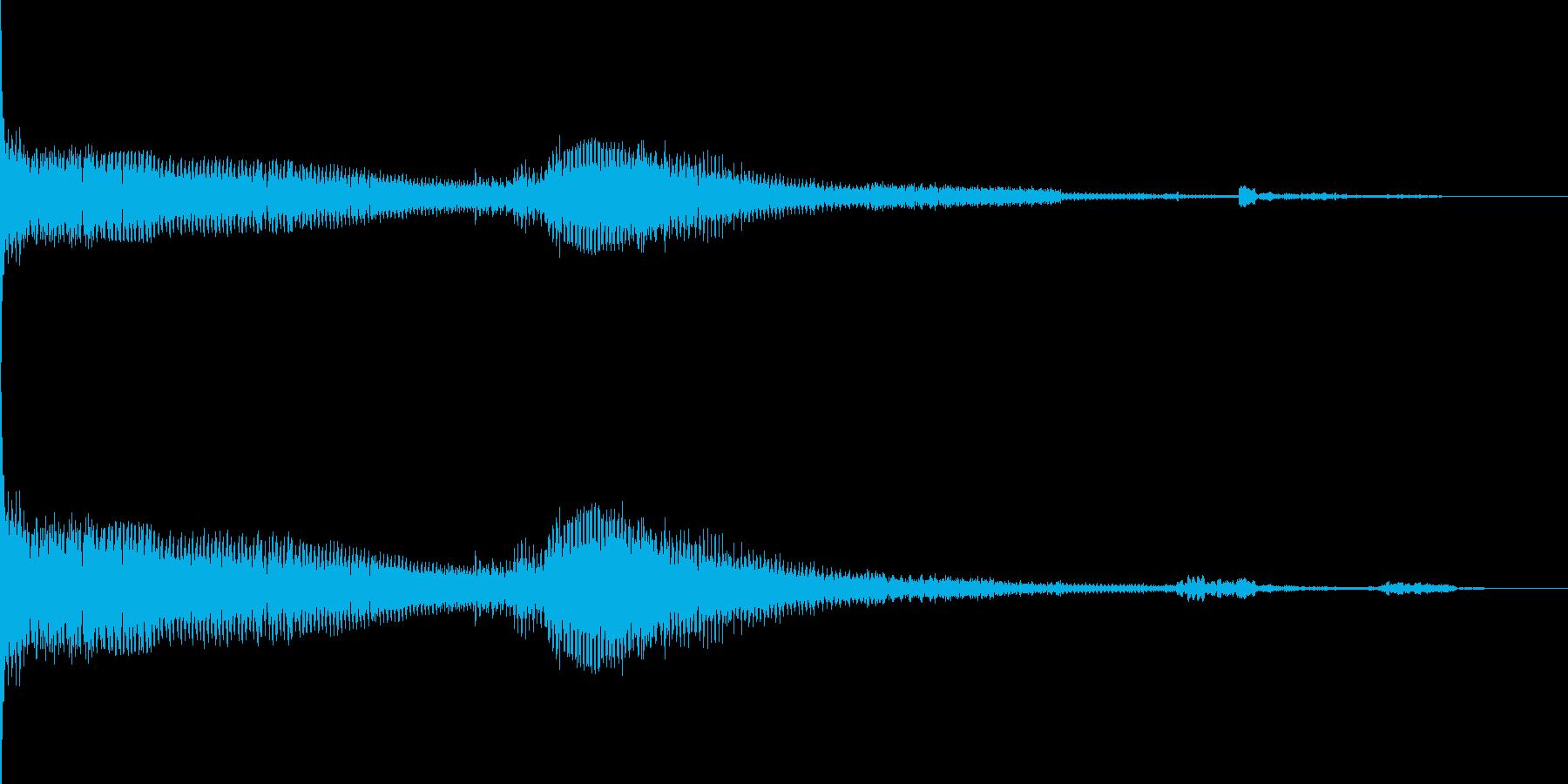 ボーン ボボボボーン(シンセ音)の再生済みの波形