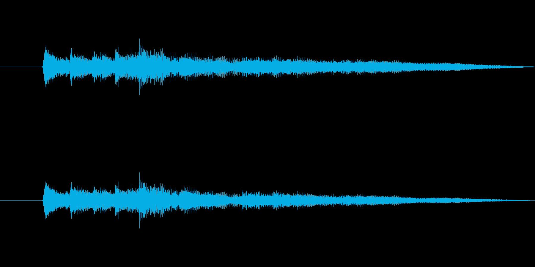 【後半へつづく】ブルージーなアイキャッチの再生済みの波形