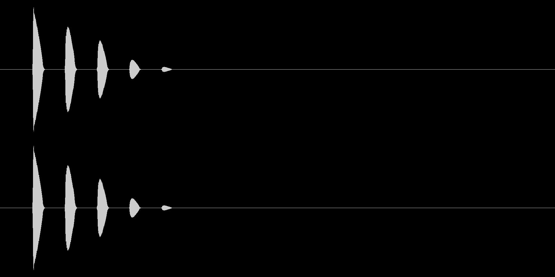 【アクセント41-2】の未再生の波形