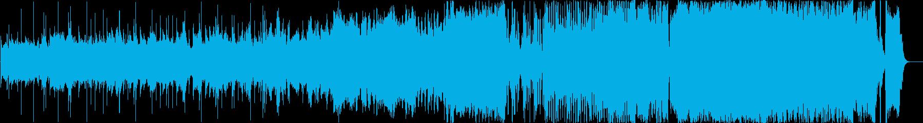 徐々に盛り上がっていく壮大なオーケストラの再生済みの波形