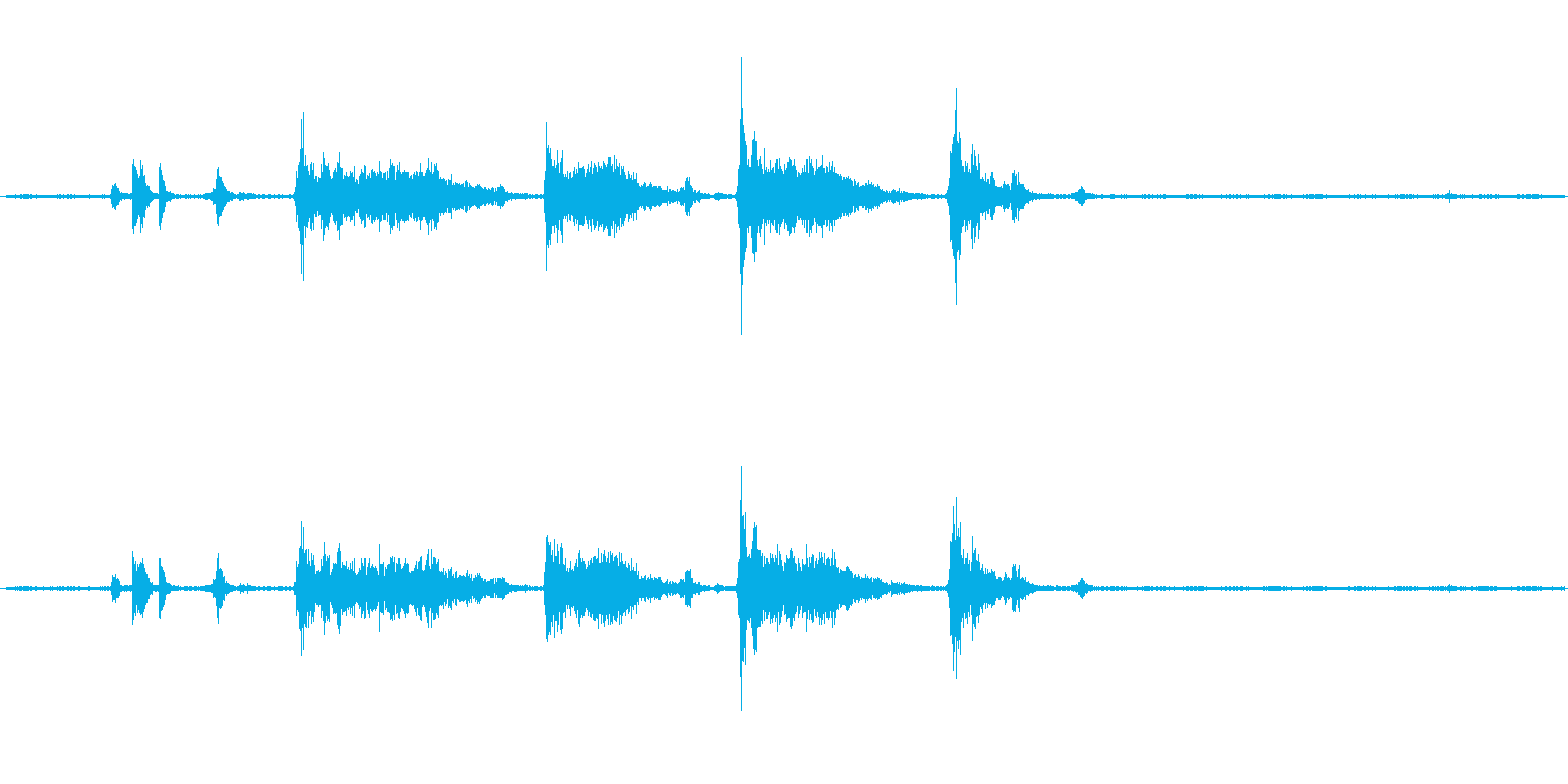 フードプロセッサーの開閉・動作音ですの再生済みの波形