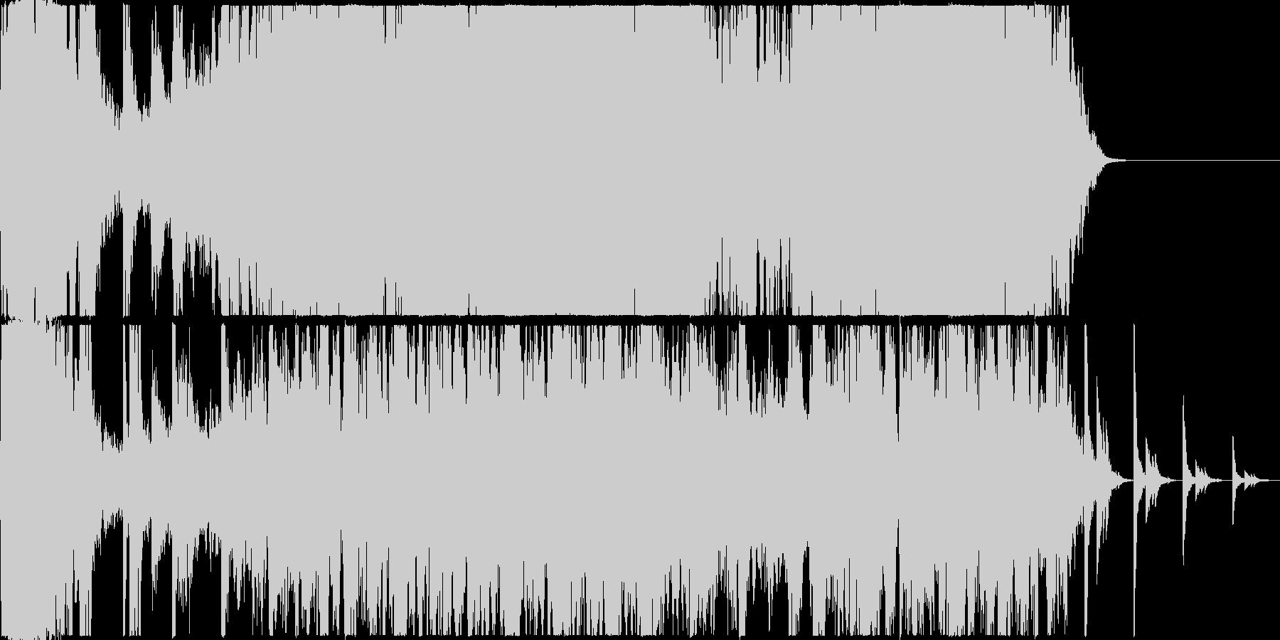 インダストリアルな音を使用した曲の未再生の波形