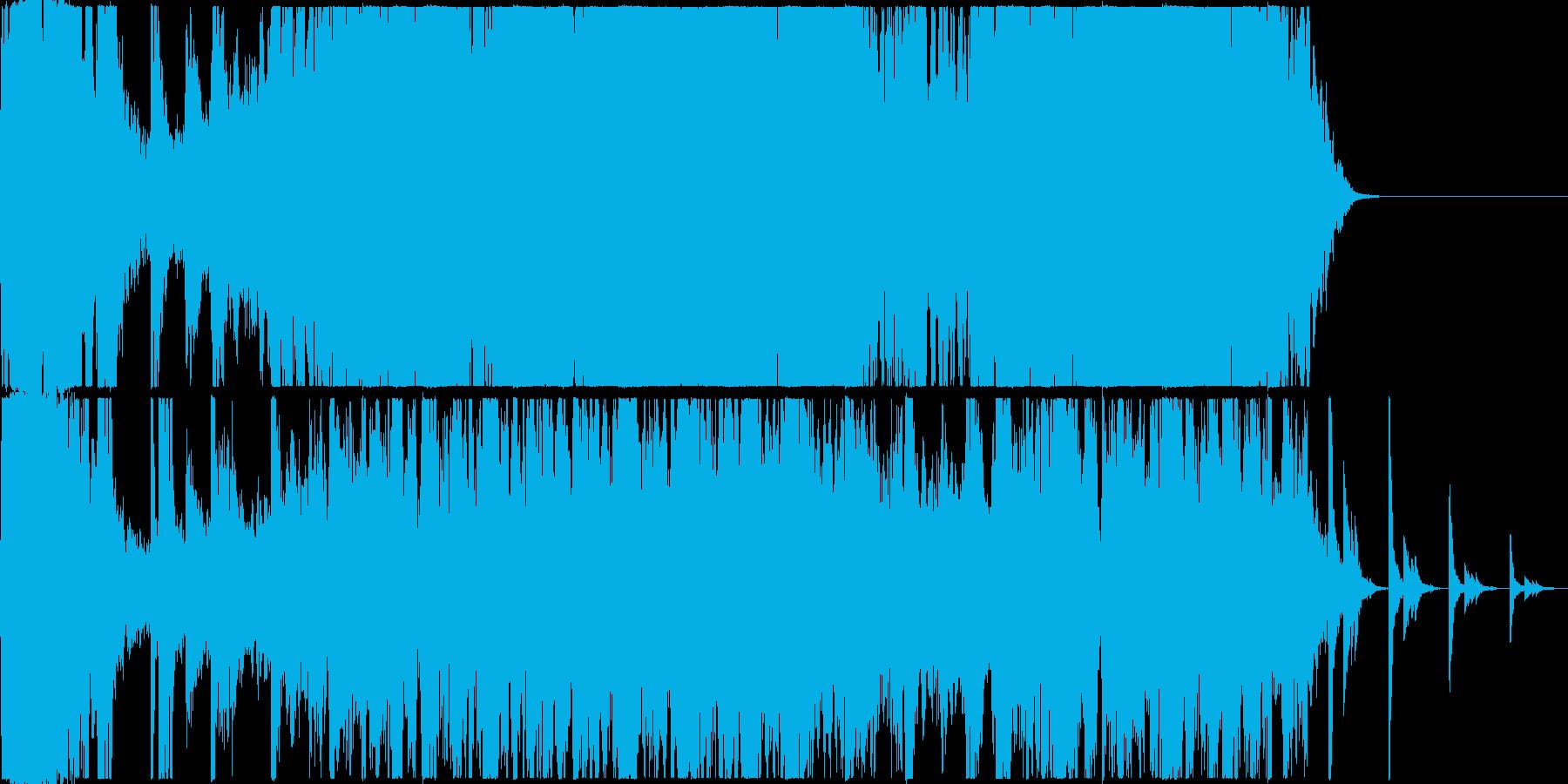 インダストリアルな音を使用した曲の再生済みの波形