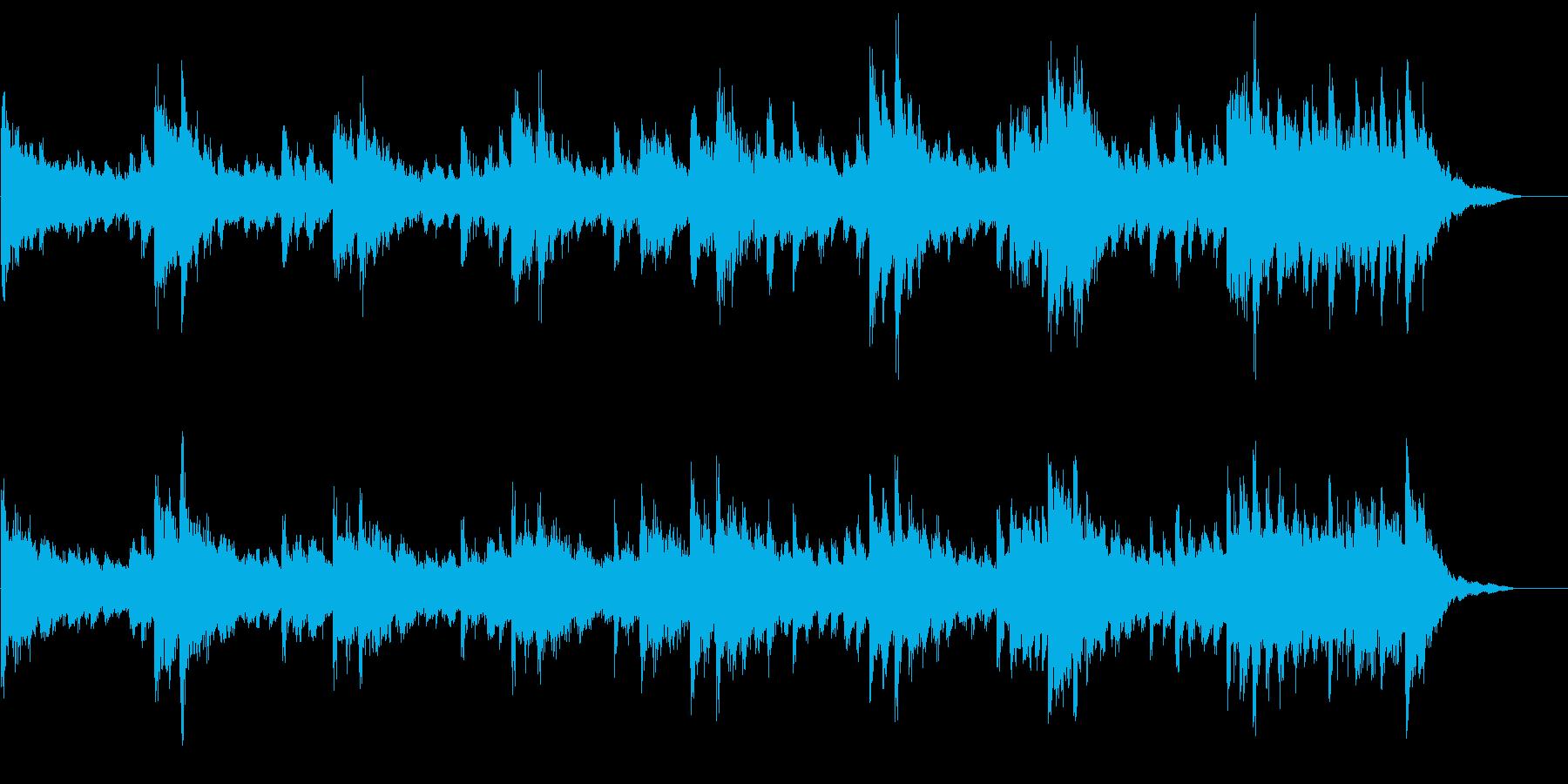 シリアスなピアノBGMドキュメンタリーの再生済みの波形